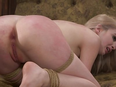 Blonde gets a hard pounding and spanking unfamiliar her master