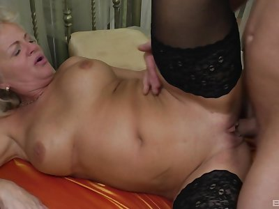 Mature feels nephew's cock deeper than without exception