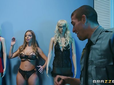 horny Britney Amber enjoys amazing fuck in the cabine with her friend