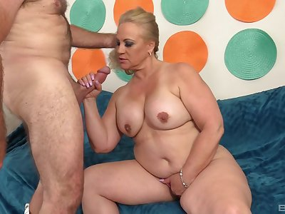 Chubby blonde wife Stunning Summer spreads legs for a hard fuck
