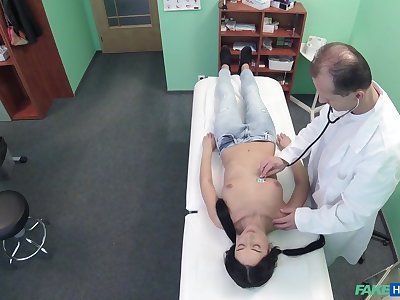 Spy camera in doctors office films him fucking a subfusc patient