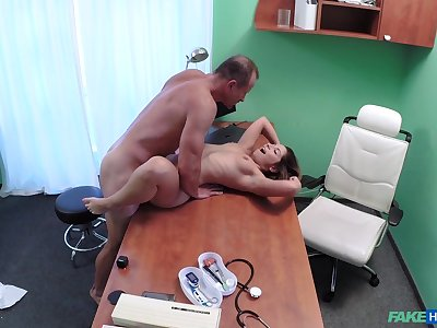 Dirty jetty smashes Vanessa Paradise's pussy in the exam parade-ground