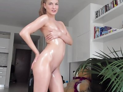 Oily Gang Dance and Tease for You with Cayenne Klein